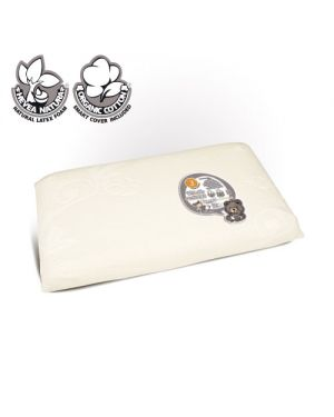 KIDO® - EXTRA-WIDE HEVEA NATURA® PILLOW WITH 100% ORGANIC COTTON COVER - KIDS (4-7 y)